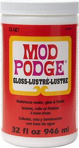 Mod Podge CS11203 Waterbase Sealer, Glue & Decoupage Finish, 32 oz, Gloss
