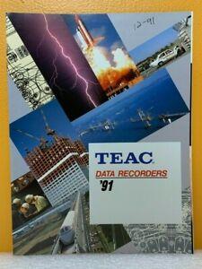 Teac '91 Data Recorders Catalog.