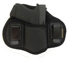 Soft IWB Dual Clip Pancake Gun Holster for Glock 43 42 & Ruger LC9/LC9s/EC9/EC9s