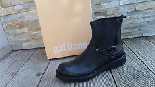 GALLIANO Stiefeletten Gr 45 booties Stiefel Schuhe shoes black nero NEU UVP 450€