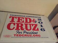 Ted Cruz Senator Texas 2016 Republican President Campaign Sign Placard