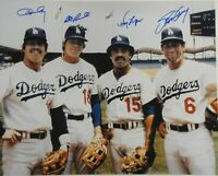 Los Angeles Dodgers Ron Cey Davey Lopes Bill Russell Steve Garvey Signed 16x20