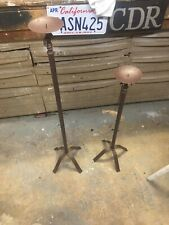 """Pair of 26"""" Metal Pillar Candle Floor Stands/Holders and"""