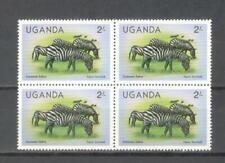 T47 - UGANDA 1979 - QUARTINA ** ZEBRA - VEDI FOTO