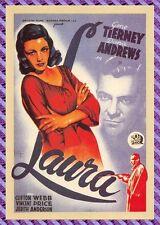 Carte Postale Affiche de Film - LAURA (Gene Tierney, Dana Andrews)