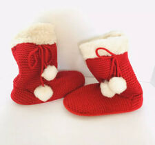 Gap Shoes Slipper Boots In Red Sherpa Accent Fleece Lining Size S (5-6) EUC
