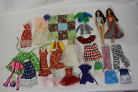 Mixed Lot of Barbie Clothes & 2 Dolls, VINTAGE & MODERN, Lot Of 27 Pieces!