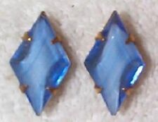 VINTAGE RARE BLUE GIVRE FABULOUS STONES IN SETTINGS 12 PCS -BLUE-reduced to 4.95