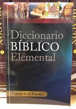 Diccionario Biblico Elemental by Tomas De La Fuente (1996, Paperback)