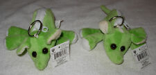 2 New Kids Green Mouse Change Coin Pouches Holders Purses Wallets With Key Ring