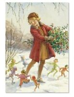 Victorian Trading Co Dancing Fairies Christmas Holiday Cards (Pkg Of 10)
