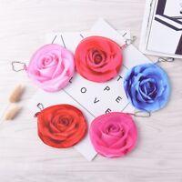 3D rose children girls coin purses holders zipper money bag pouch wallets NTPK