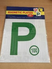 Driver Magnetic Green P Plates 2 pcs