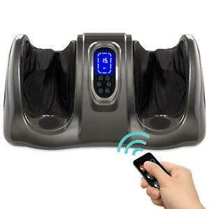 Therapeutic Foot Massager With High Intensity Rollers Remote And Massage 3 Modes