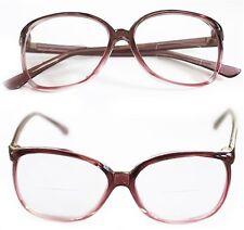 Reading Glasses Bifocal OFFICE Oval Large GRAPE PURPLE Frame Polished +1.75 Lens