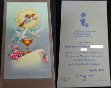 ESTAMPA HOLY CARD PRIMERA COMUNION COLEGIO DE LA ESPERANZA 1969 SEVILLA   CC1362