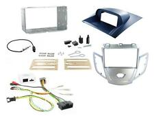 Connects2 Ford Fiesta Mk7 2010-2012 Double Din Stereo Fitting Kit Silver / Blue
