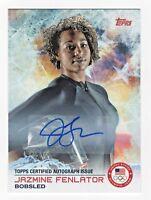 2014 Topps USA Olympic Team Autograph #31 Jazmine Fenlator Bobsled