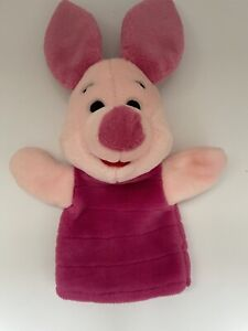 Walt Disney Winnie the Pooh PIGLET HAND PUPPET Plush Stuffed Animal Toy Mattel