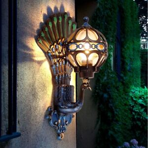 New Peacock LED Wall Lamp Sconce Outdoor Garden Waterproof Wall Lights Fixture