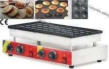 Nonstick Electric 50pcs 4.5cm Mini Dutch Pancake Poffertjes Maker Baker Machine