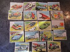 PRESCOTT SPEED KINGS BUBBLE ,CHEWING GUM CARDS 1966 UK ISSUE job lot x19