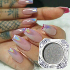 1g Nail Art Holographic Laser Glitter Powder Silver Manicure Chrome Dust Tips
