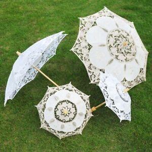 Pretty Bridal Lace Umbrella Parasol Decoration For Wedding Photography AU