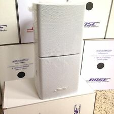 Bose Double Cube Speaker Acoustimass Lifestyle-Absolutely Perfect. In White.