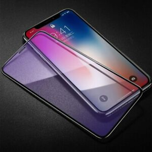 2PCS Anti Blue ray Tempered Glass Screen Protector For iPhone 9 XS XR 11 12 Pro