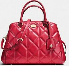 NWT COACH Quilted Leather Small Margot Carryall Satchel Handbag F36679 RED $495