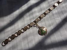 "Vintage SARAH COV ""Young & Gay"" 10 gram 9mm foliate with 1979 charm bracelet"