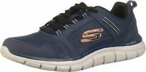 Skechers - Mens Track - Knockhill Shoes, Size: 11.5 M US, Color: Navy/Orange