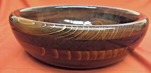 Vintage California Redwood Hand Made Collectible Decorative Bowl The Tree House