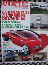 revue L'AUTOMOBILE 1986 PORSCHE 928 S4 + 944 S / RENAULT 11 TURBO + 25 GTX + 21