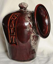 Vintage Brown Honeycomb Salt Pig - Fosters Pottery
