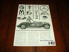1965 MORGAN SPORTS CAR VILEM HAAN PARTS  ***ORIGINAL AD***