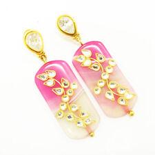 925 Sterling Silver Agate & Quartz Pear Gemstone Stud Women's Earrings For GIFT