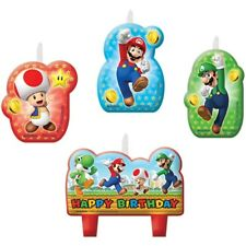 Amscan 171554 Bougies Super Mario « Happy Birthday » Ref25