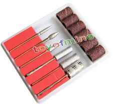 6PCS Nail Art Electric Drill File Manicure Tool Machine Kits Filling Sanding Bit