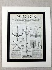 More details for 1890 print black forest lamp lights design victorian lighting drawing
