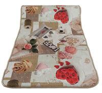 TAPPETO cucina 55x240 guida Antiscivolo passatoia Digitale rose e cuori