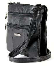 Ladies Womens Leather Cross Body Messenger Bag Handbag Shoulder Bag