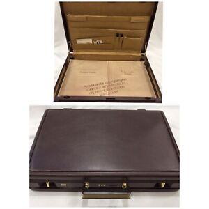 New Vintage Slim American Tourister Brown Briefcase Attache Case Hard Shell