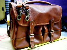 vintage LEVENGER-Brown-Leather-Messenger-Briefcase-S Messenge Satchel