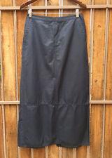 Esprit Gray Maxi Skirt Long Fit Slitted Back Nylon Cotton Size 9/10 EUC EUC