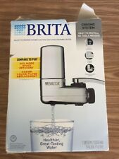 Brita Chrome On Tap Water Filter System Fits Standard Faucets Only (Box torn)