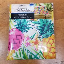 Pineapple Tablecloth 60x102 inches Summer  Fruit Tropical Vinyl Rectangular
