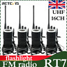 4XRetevis RT7 Walkie Talkies 16CH Scan FM Flashlight two way radio long range