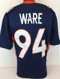 Demarcus Ware Unsigned Custom Sewn Blue Football Jersey Size 3XL